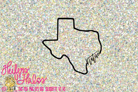 Native Texas - svg, eps, dxf, png, jpg digital cut file for cricut and silhouette - Heifers and Halos Graphics