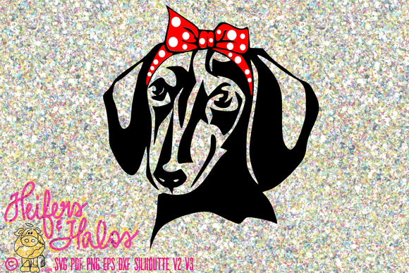 Bandana dachshund black and tan digital file, digital cut file, sublimation, printable, svg, pdf, png, eps, dxf, cricut silhouette - Heifers and Halos Graphics
