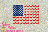 Doxie Dachshund, Weenie Dog American Flag, svg, pdf, png, eps cut file or t-shirts, decals, yeti cups.  4th of July, dog svg - Heifers and Halos Graphics