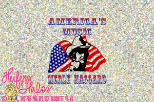 America's Music Merle Haggard vintage svg, pdf, png, eps for t-shirts, decals, yeti cups, cricut, silhouette cut file - Heifers and Halos Graphics