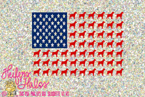 Labrador Flag and lab flag with paws svg, png, pdf, eps cut file.  Lab flag, dog, 4th of July, t-shirts, decals, yeti cups, cricut - Heifers and Halos Graphics