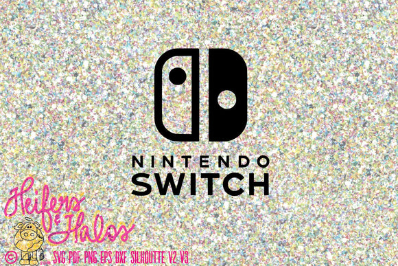 Nintendo Switch svg cut file for cricut, silhouette - t-shirt, yeti cups, decals - Heifers and Halos Graphics