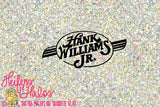 Hank Williams Jr logo, decal, cups, t-shirts, svg, pdf, png, eps, dxf, studio3, country western svg, music svg, digital cut file - Heifers and Halos Graphics