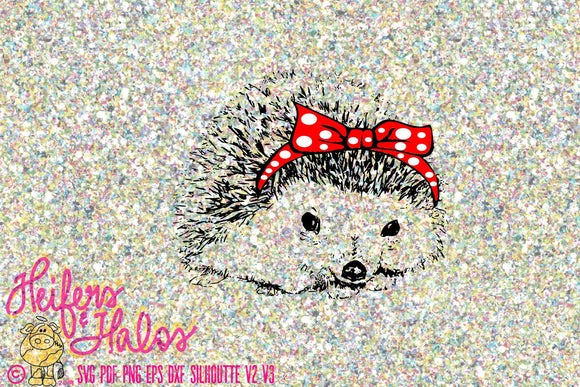 Bandana hedgehog digital file, digital cut file, printable, sublimation, svg, pdf, png, eps, dxf, cricut, silhouette - Heifers and Halos Graphics