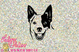 blue heeler dog digital file clip art cut file, use for cutting, sublimation, printing, stickers, t-shirts - Heifers and Halos Graphics