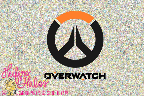 Overwatch svg, png, pdf, eps, dxf cut file for t-shirts, decals, yeti cups, silhouette cameo, cricut, gamer, video game, gamer svg, cut file - Heifers and Halos Graphics