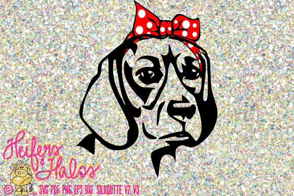 Bandana beagle dog digital file, printable, digital cut file, sublimation, cricut, silhouette, svg, pdf, png, eps, dxf t-shirt design - Heifers and Halos Graphics