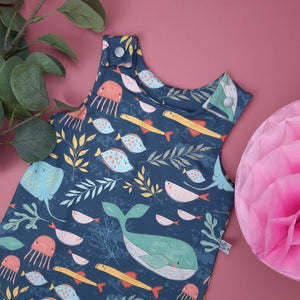 Under The Sea Baby and toddler Dungarees,