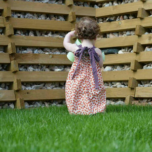 Girls Summer Dress With Tie Back