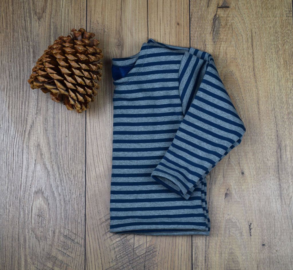 Children's Stripe Sweatshirt ~ Navy & Grey