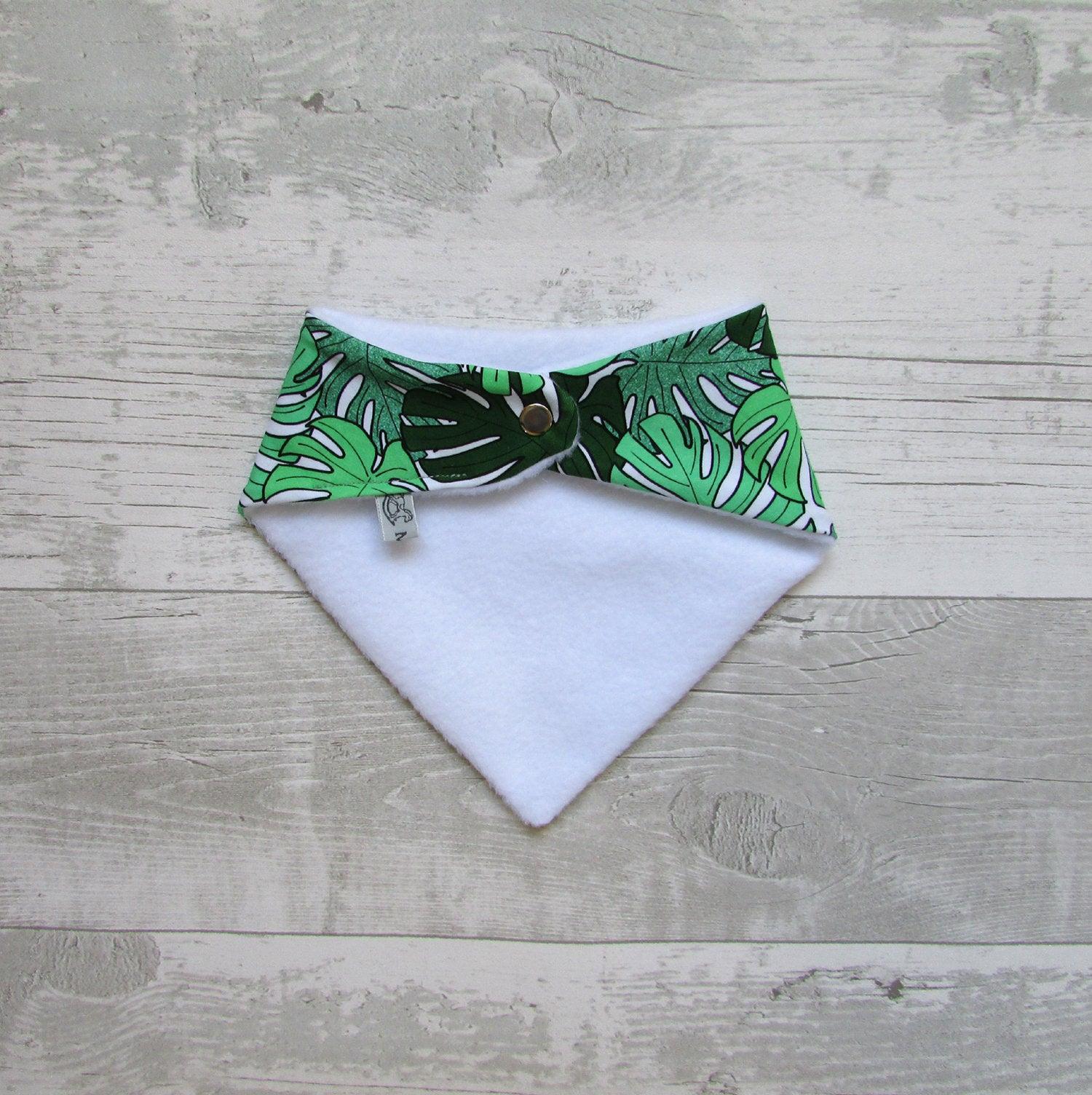 Monstera Leaf Baby Bib