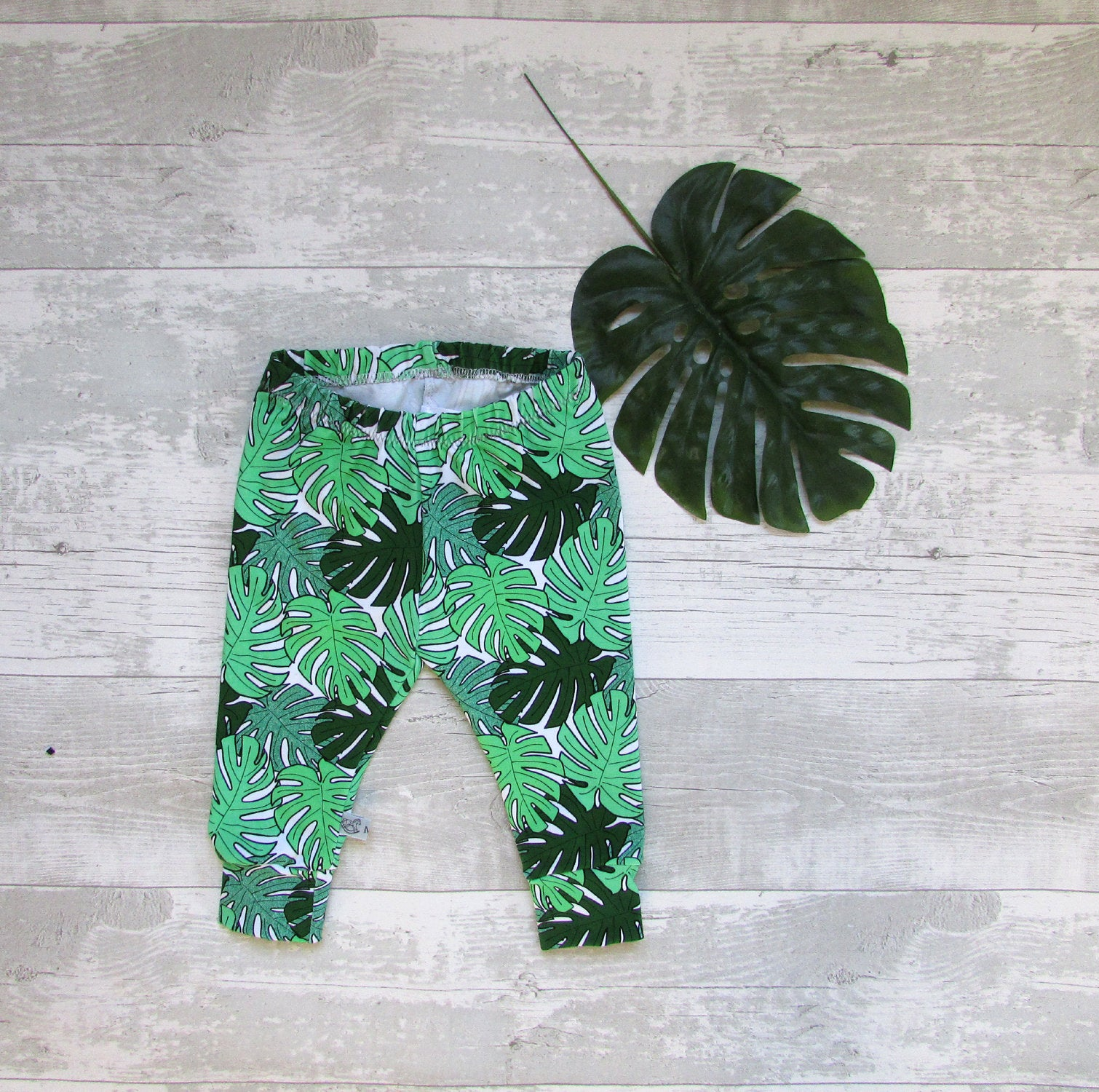 Monstera Leaf Baby Leggings