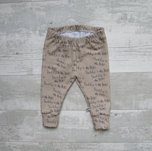 Daddy Is The Best Baby Leggings ~ Cappuccino