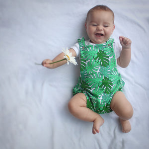 Monstera Leaf Baby Romper
