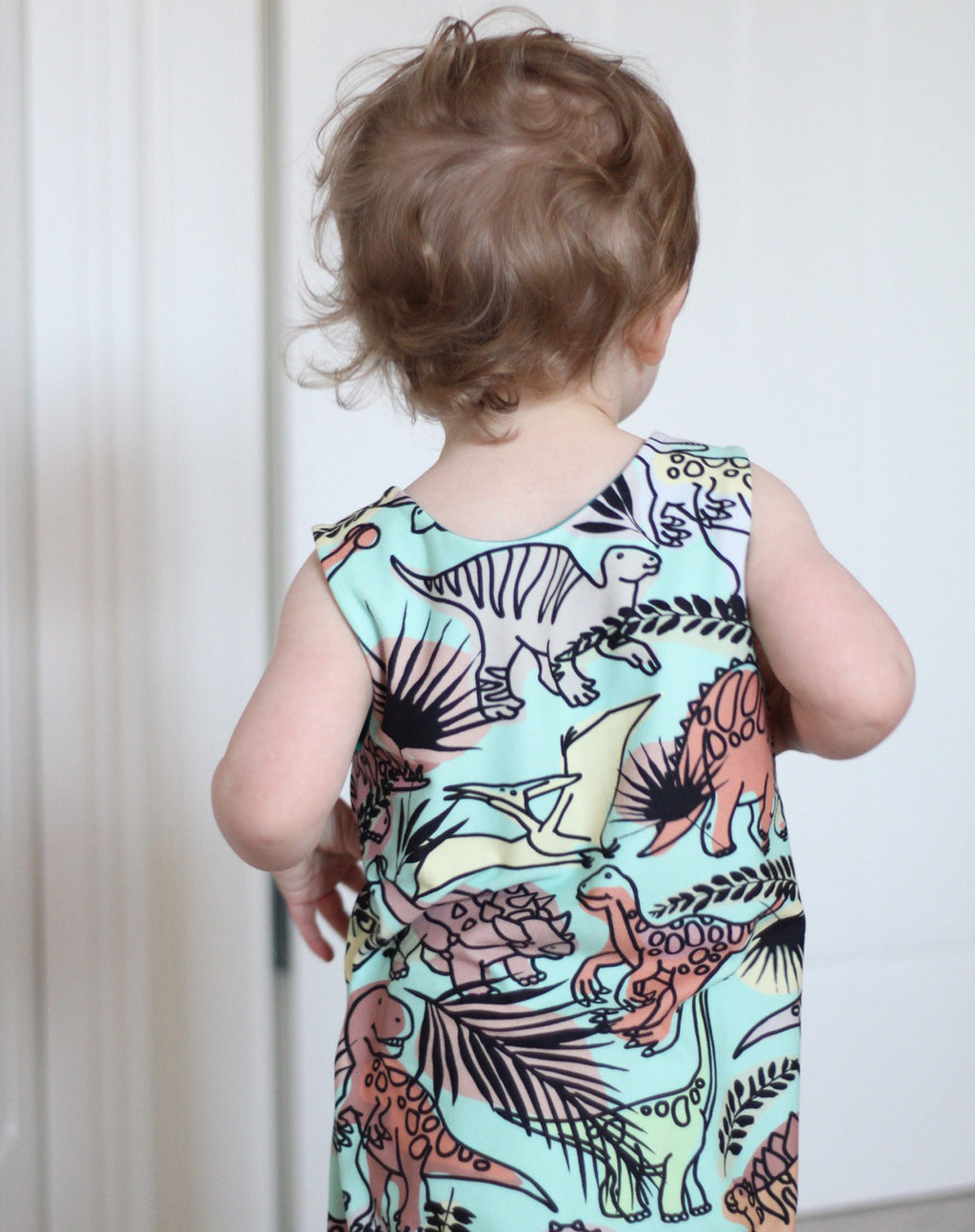 Gender Neutral Dinosaur Romper