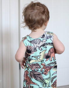 Gender Neutral Dinosaur Dungarees