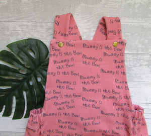 'Mummy Is The Best' Pink Baby Romper