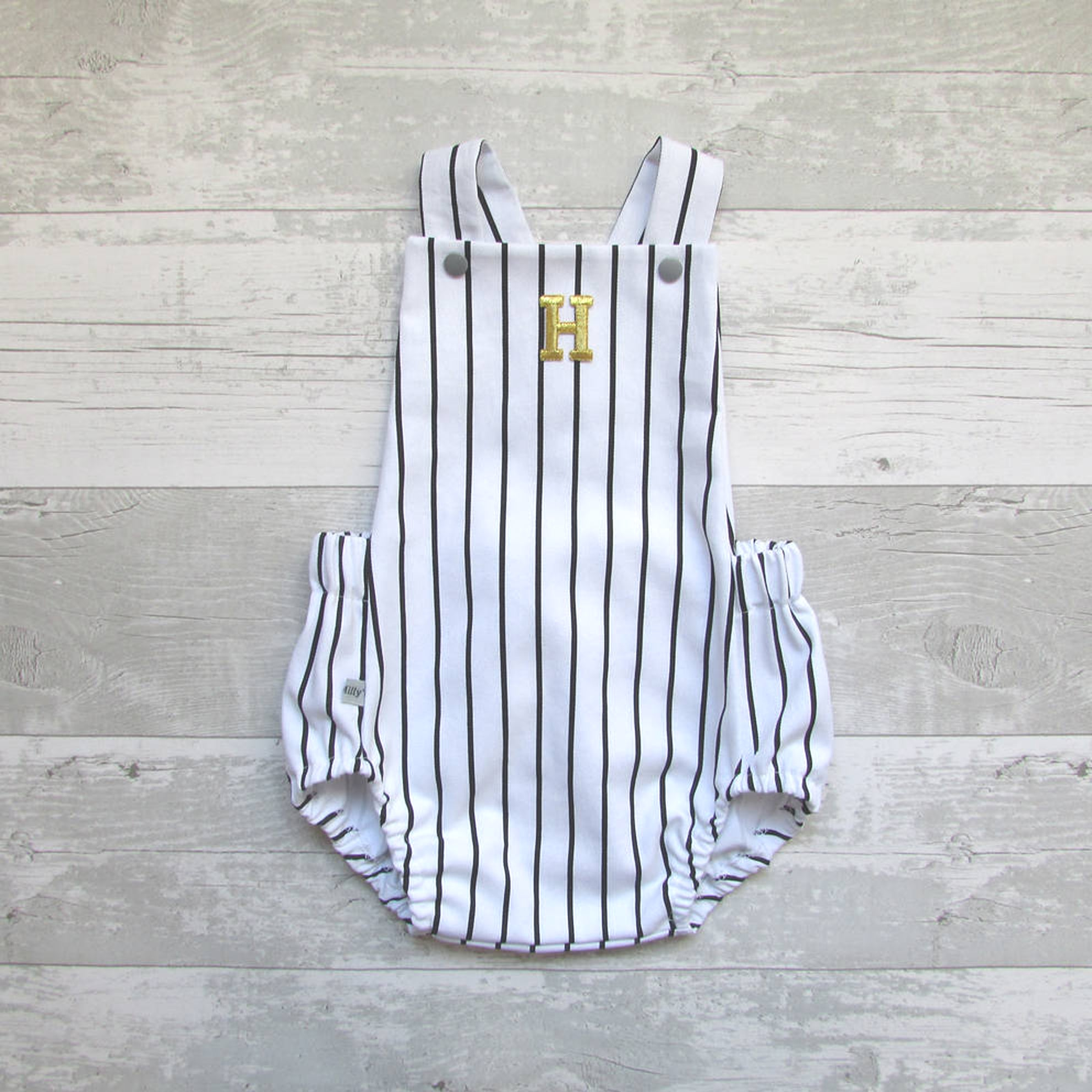 Black and White Baby Romper