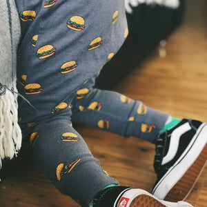 Burger Baby Print Leggings