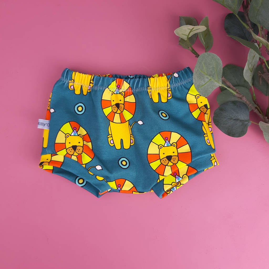 Baby And Toddler Shorts With Circus Lions