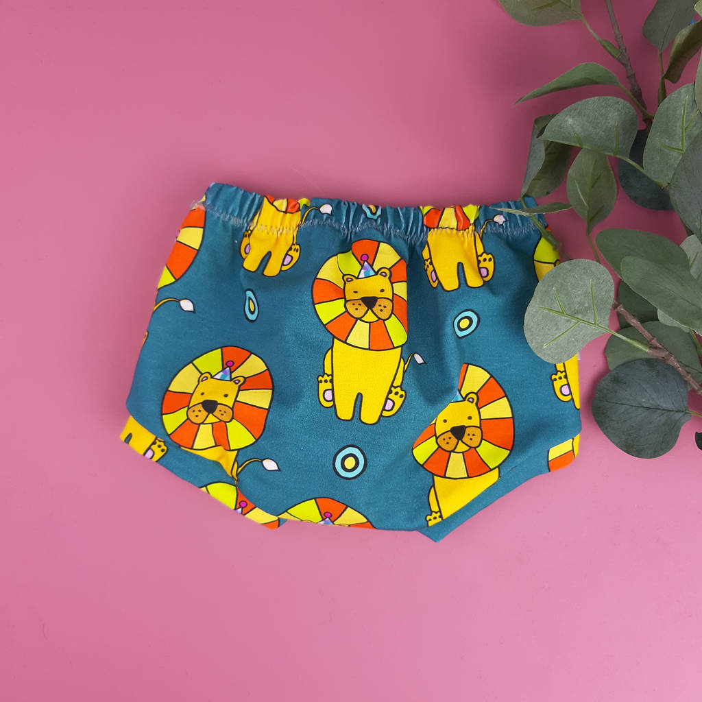 Baby And Toddler Shorts With Lions