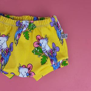 Tropical Bird Print Toddler Shorts