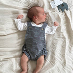 'Daddy Is The Best' Grey Baby Romper