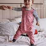 Mummy Is The Best Baby Dungarees - Pink