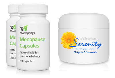 Wellsprings Menopause Capsules and Serenity Cream Pack