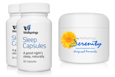 Wellsprings Sleep Capsules and Serenity Cream Pack