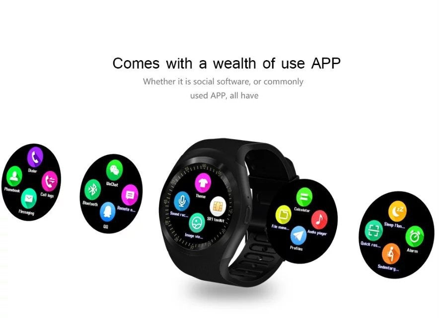 Y1 Smart Watch With Sim Card and Bluetooth