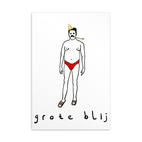 GROTE BLIJ - A6 POSTCARD
