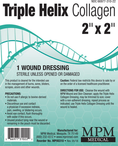 Triple Helix® Collagen Pads - MPM Medical