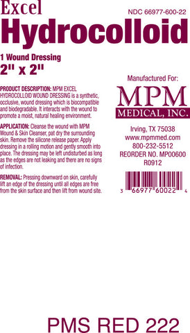Excel Hydrocolloid - MPM Medical