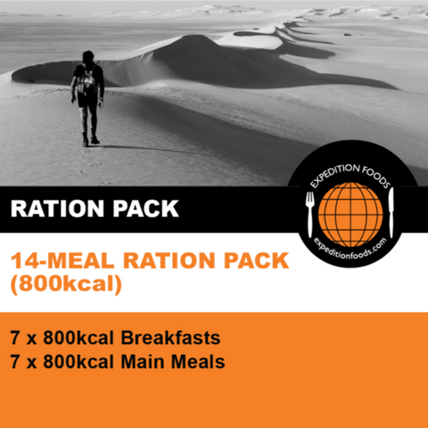 Expedition Foods, Expedition Foods - 14 Meal Ration Pack, 24 Hour Rations,Wylies Outdoor World,