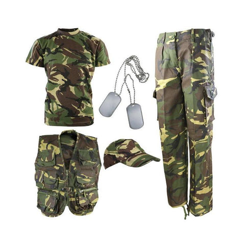 Kombat UK, Kids Camouflage Explorer Army Kit, Kids Fleeces, Jumpers & Hoodies,Wylies Outdoor World,