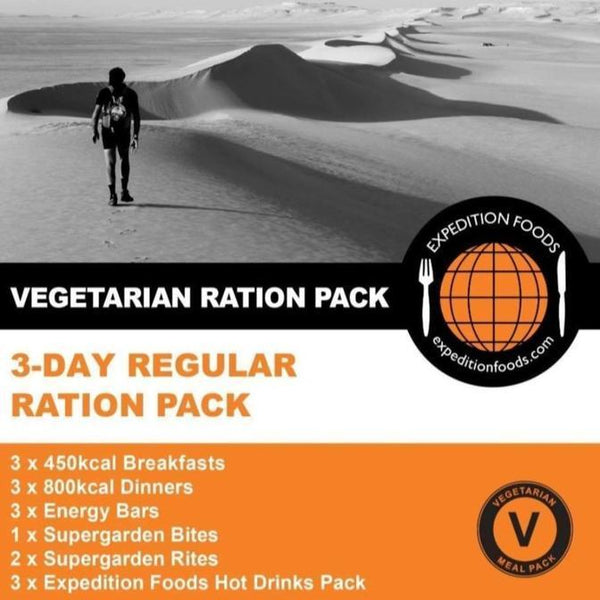 Expedition Foods, Expedition Foods - 3 Day Vegetarian Ration Pack, 24 Hour Rations, Wylies Outdoor World,