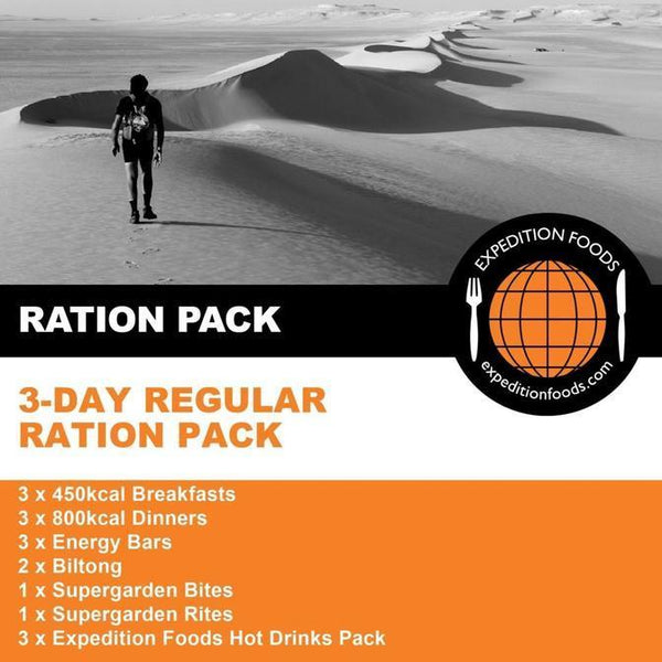 Expedition Foods, Expedition Foods - 3 Day Regular Ration Pack, 24 Hour Rations, Wylies Outdoor World,