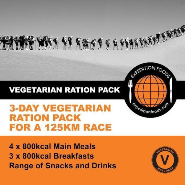 Expedition Foods, Expedition Foods - 3 Day / 125km Vegetarian Nutrition Pack, 24 Hour Rations,Wylies Outdoor World,