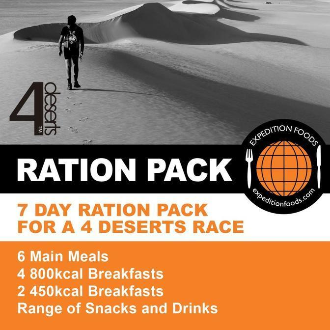 Expedition Foods, Expedition Foods - 4 Deserts 250km Nutrition Pack, Day Ration Packs, Wylies Outdoor World,