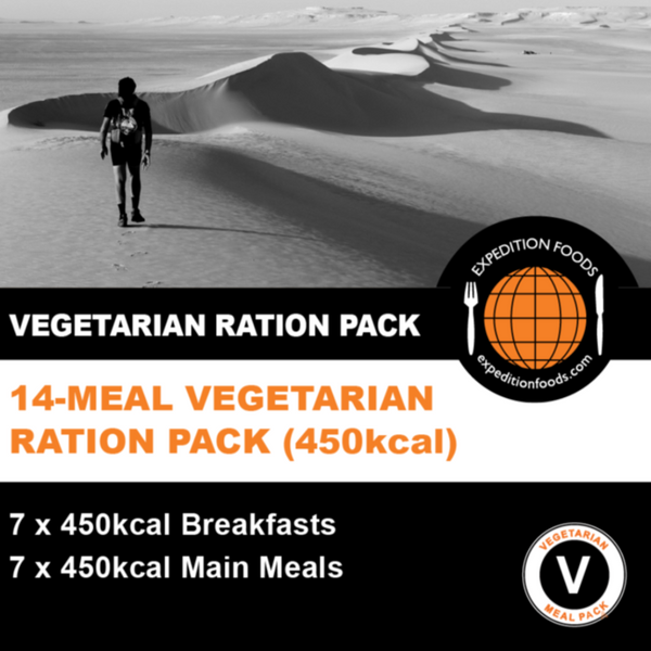 Expedition Foods, Expedition Foods - 14 Meal Vegetarian Ration Pack, 24 Hour Rations,Wylies Outdoor World,