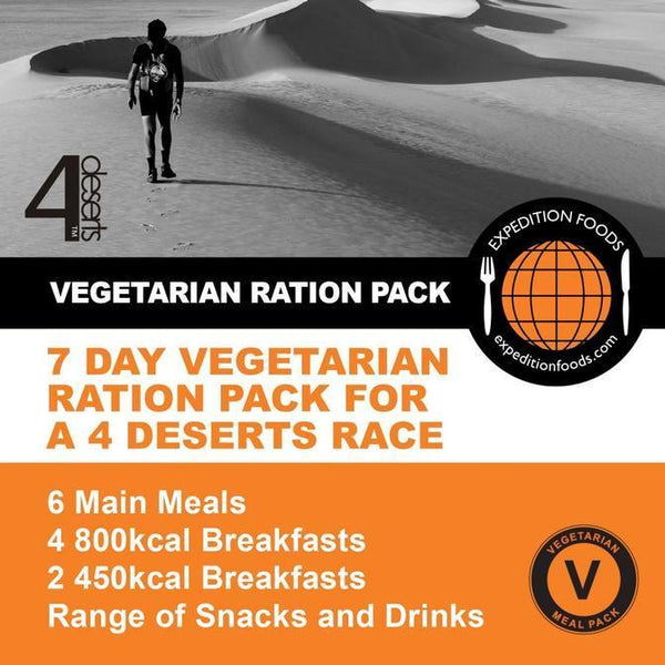 Expedition Foods, Expedition Foods - 4 Deserts 250km Vegetarian Nutrition Pack, Day Ration Packs, Wylies Outdoor World,