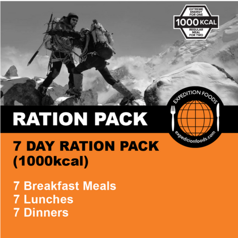 Expedition Foods, Expedition Foods - 7 Day Ration Pack, 24 Hour Rations,Wylies Outdoor World,