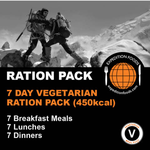 Expedition Foods, Expedition Foods - 7 Day Vegetarian Ration Pack, 24 Hour Rations,Wylies Outdoor World,