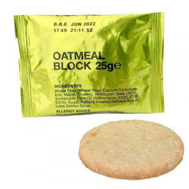 BCB, Oatmeal Block 25g, Snacks & Trail Food, Wylies Outdoor World,