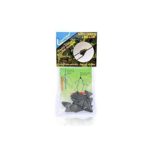 DD Hammocks, DD Nato Green Mini Line-Loks (Pack of 8), Tarp Suspension & Accessories, Wylies Outdoor World,