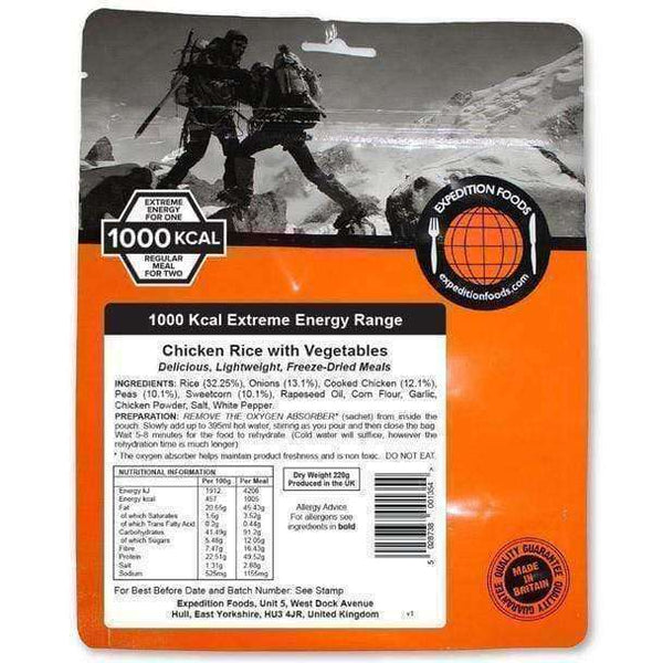 Expedition Foods, Expedition Foods - Chicken Rice with Vegetables (Extreme Energy), Freeze Dried Meals, Wylies Outdoor World,