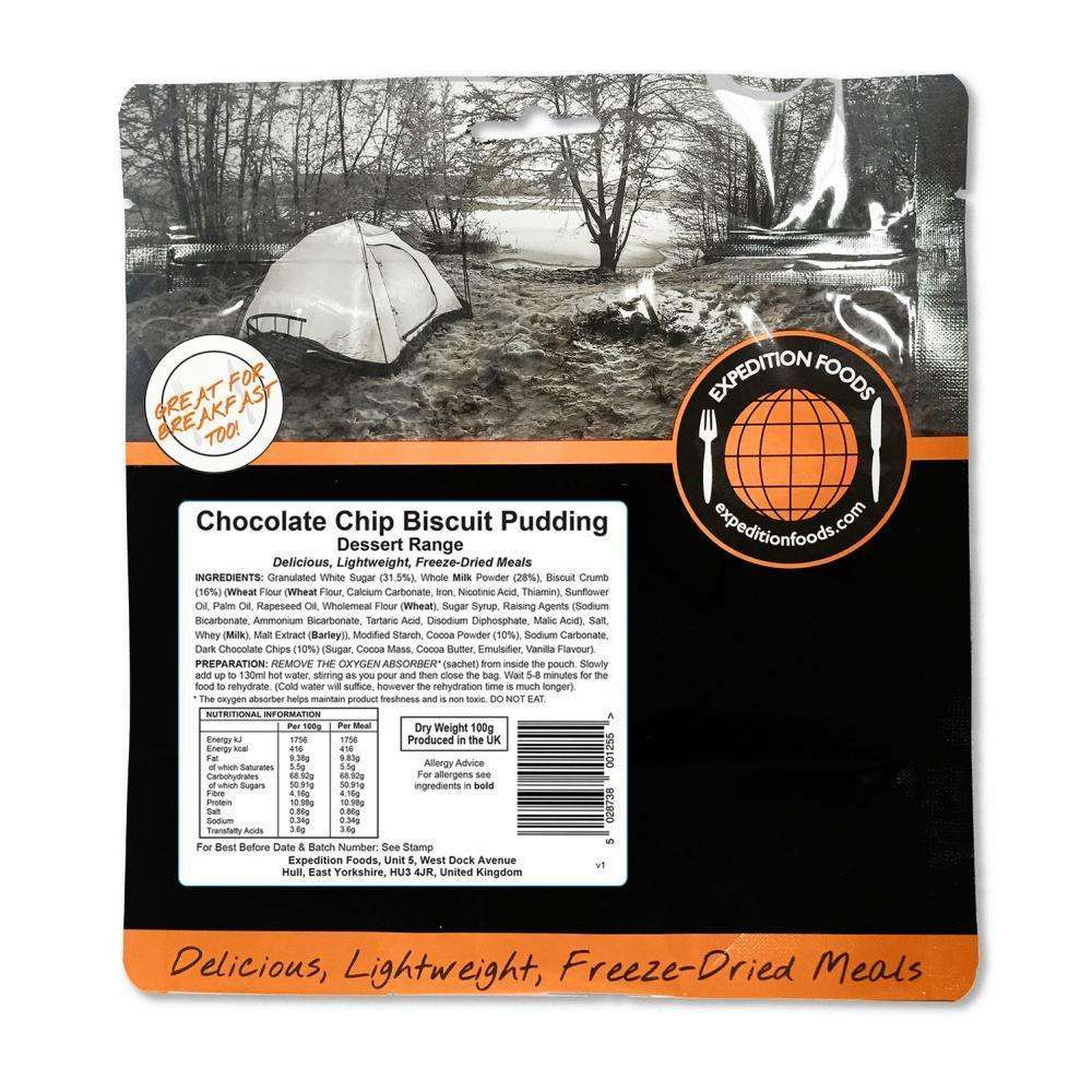 Expedition Foods, Expedition Foods - Chocolate Chip Biscuit Pudding, Freeze Dried Meals, Wylies Outdoor World,
