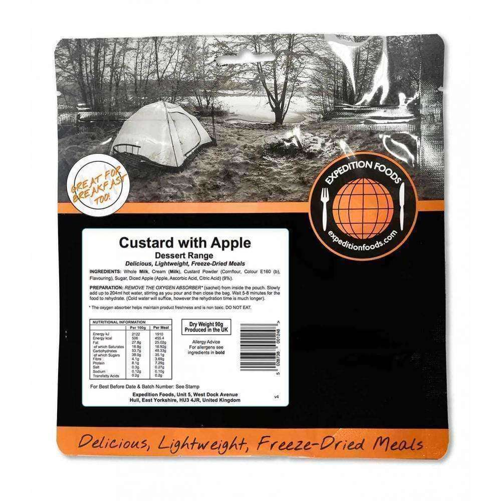 Expedition Foods, Expedition Foods - Custard with Apple, Freeze Dried Meals, Wylies Outdoor World,