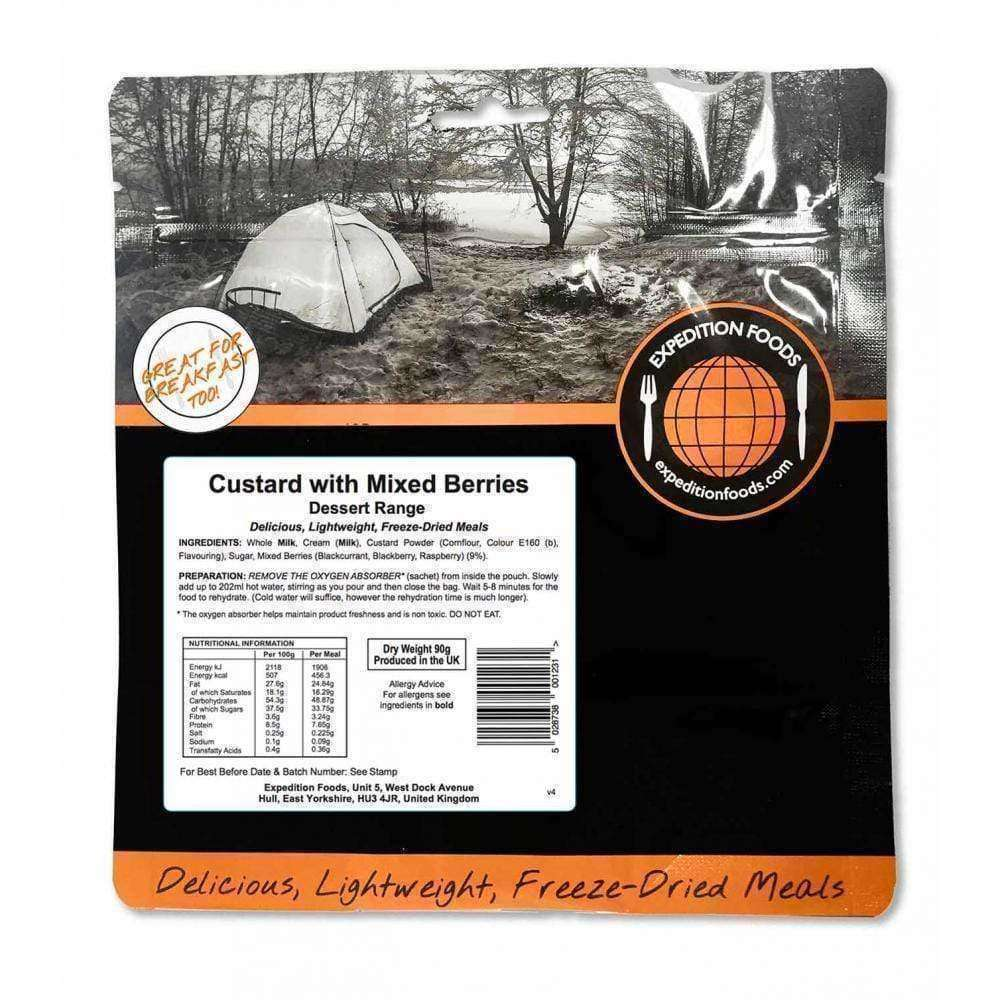 Expedition Foods, Expedition Foods - Custard with Mixed Berries, Freeze Dried Meals, Wylies Outdoor World,